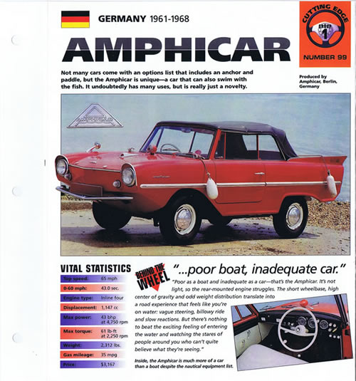 Amphicar Brochure page 1 of 3