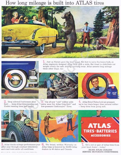 Atlas Tire Based Vintage Collectable Ads