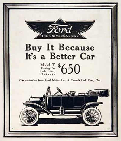 Classic  Photo  on 1914 Ford Model T Touring Car Original Vintage Advertisement  Price