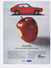 1971 Ford Pinto apple ad