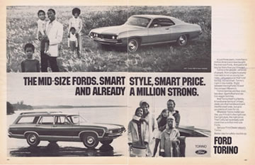 1971 Ford Torino Coupe double ad